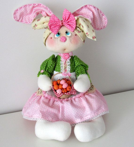 Stuffed bunny rabbit hare plush bunny fleece softie bunny cute softie stuffed toy birthday gift Easter bunny gift Easter bunny shelfsitter