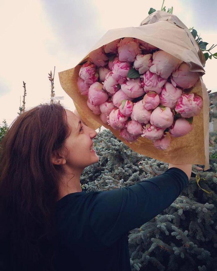 Wonderful pink peonies!  Buchet cu bujori roz