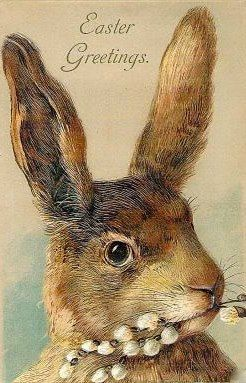 """Easter Greetings"" ~ vintage Easter card"