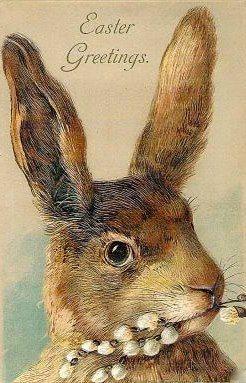 """""""Easter Greetings"""" ~ vintage Easter card"""