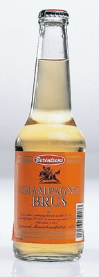 Champagnebrus champagne soda.  Not really champagne but a sweet almost bubble gum flavored carbonated soda.  It is my favorite and I want some so bad, but it cost 300$ to ship a case to the US!!!!  I will have to wait and see if someone returning from Norway can smuggle me some!!!