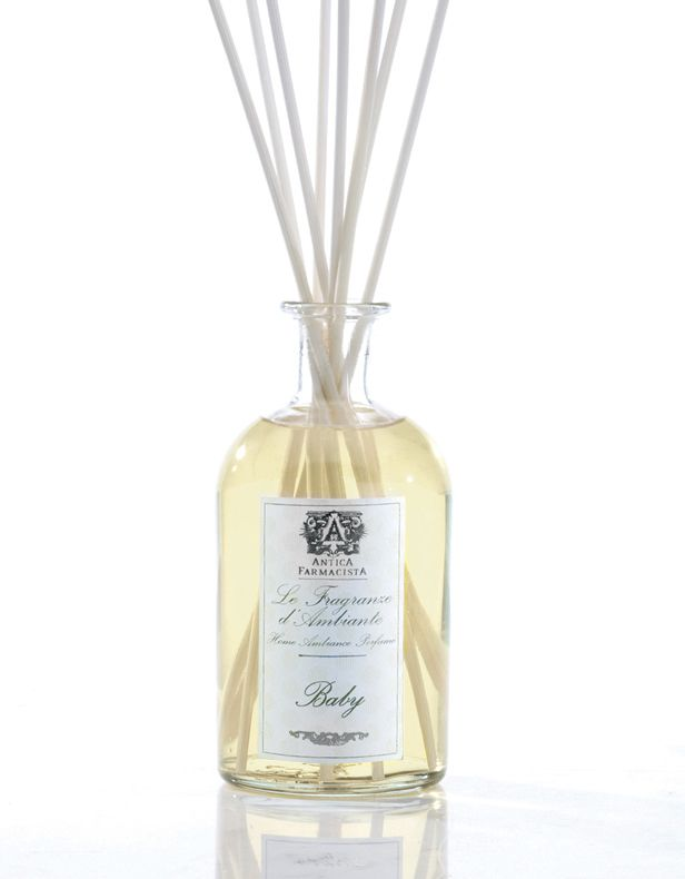 Antica Farmacista diffuser in Baby fragrance is a sweet, calming scent, $69.50