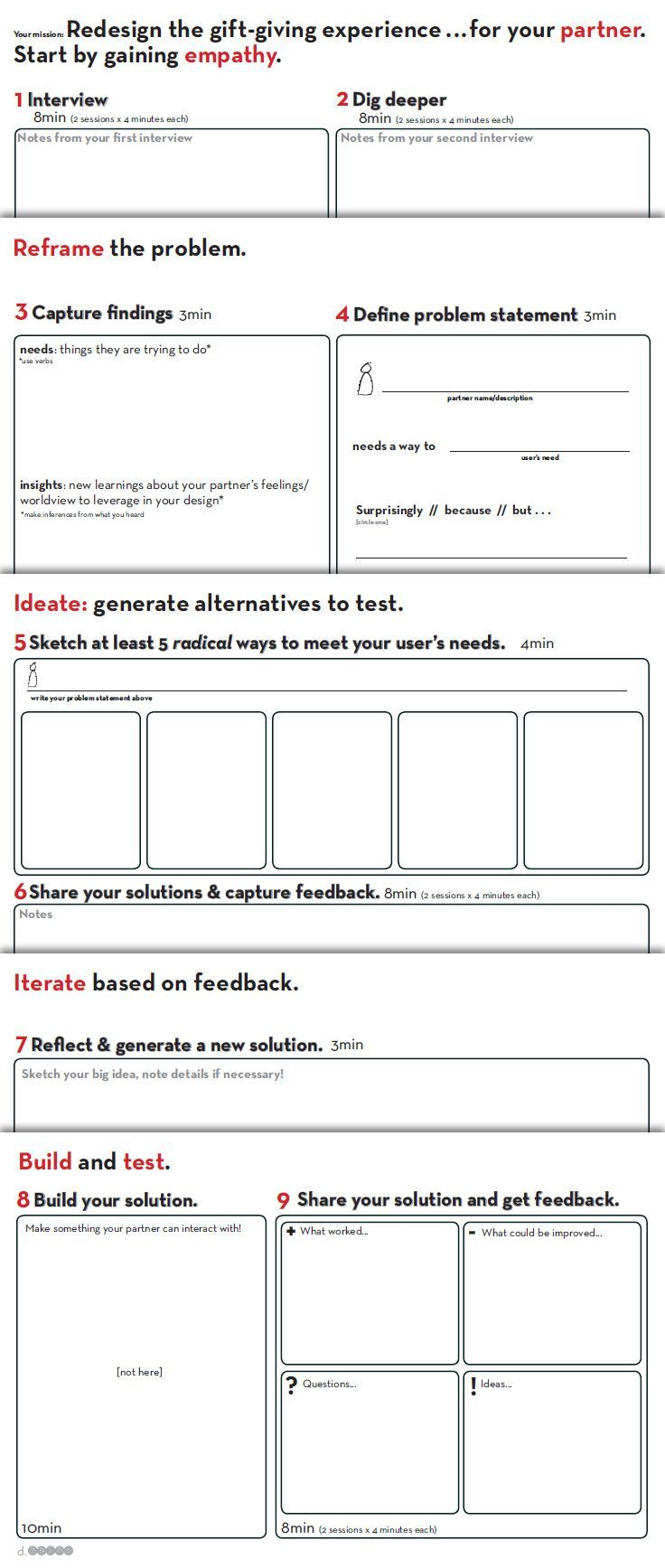 Worksheet | provided by D.School Stanford http://dschool.stanford.edu/dgift/. The UX Blog podcast is also available on iTunes.