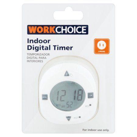 Work Choice Indoor Digital Timer, White