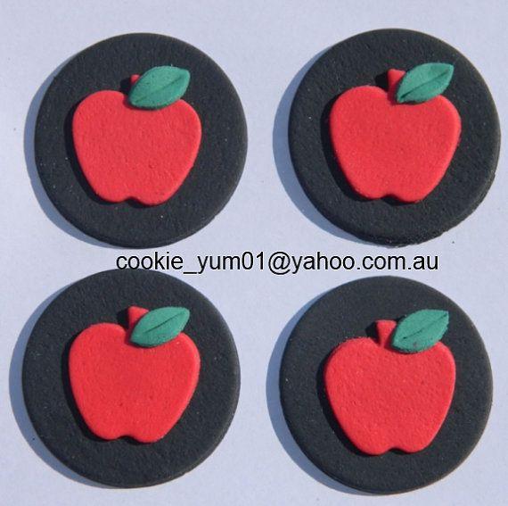 12 manzana comestible disco Crepúsculo caída cosecha oruga hambrienta pastel cupcake topper decoración boda cumpleaños compromiso aniversario de boda