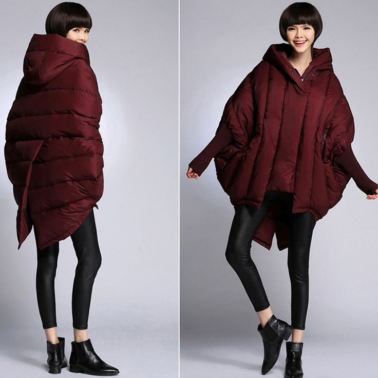 Oversized parka cocoon shaped loose warm thick duck down jacket women hooded black fashion bats winter jacket LM41-in Down & Parkas from Women's Clothing & Accessories on Aliexpress.com | Alibaba Group US $133