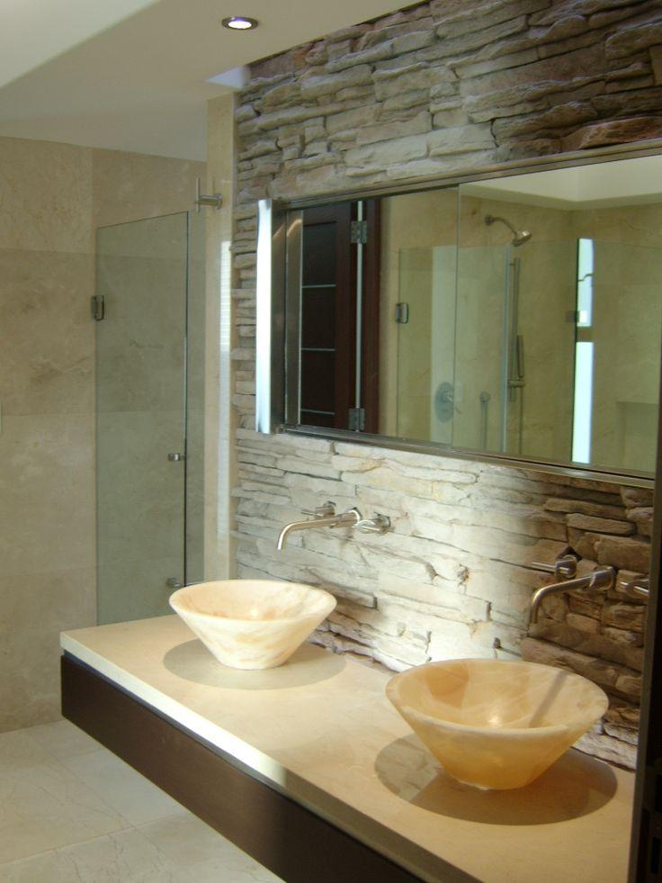 anteba o marmol bacha con madera ba os pinterest