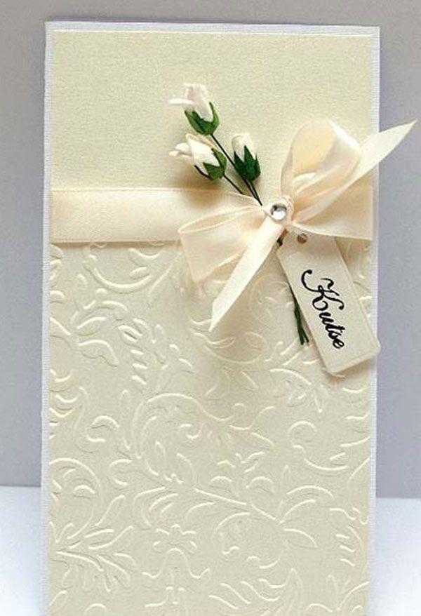 Украсить свадебную открытку своими руками, открытки день