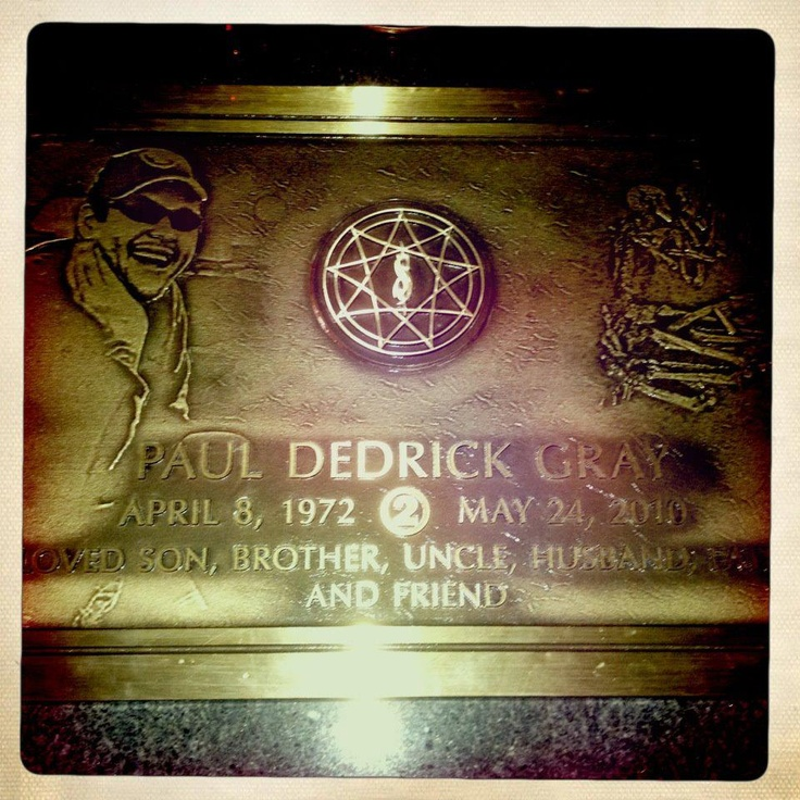 Grave Marker Paul Gray American Bist Slipknot A Private Funeral Was