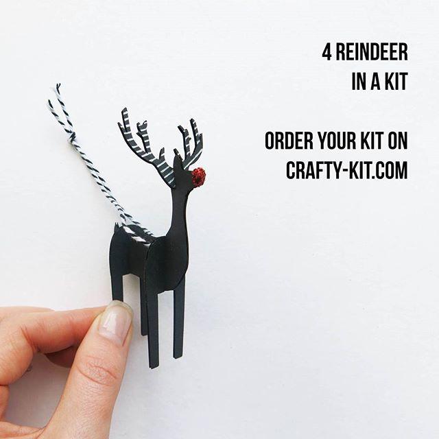 Assemble your Rudolph #craftychristmas #diy #diychristmasdecorations #christmasdecorations #thisistheseason #reindeer #Rudolph www.crafty-kit.com