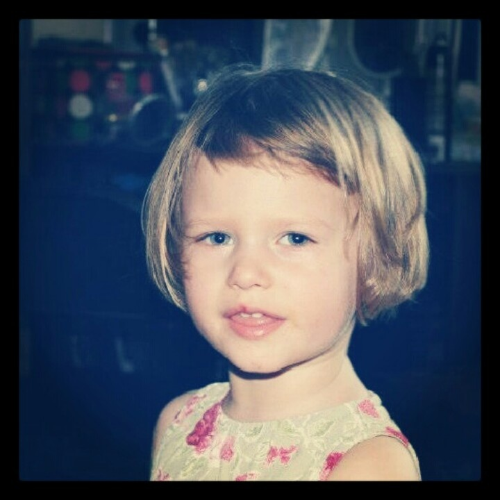 Short bangs cute little girl bob