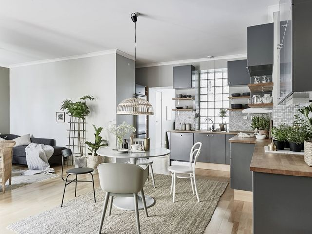 Bright and cheerful Scandinavian apartment