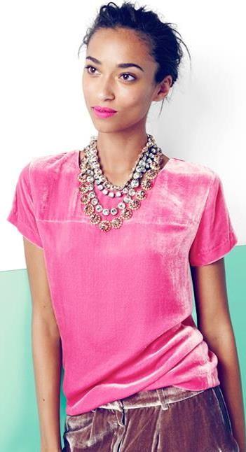 Pink velvet... nice!!