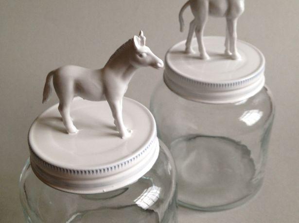 diy plastic animals jars tutorial paint - creatief met plastic speelgoeddieren verven potjes zelf maken action3