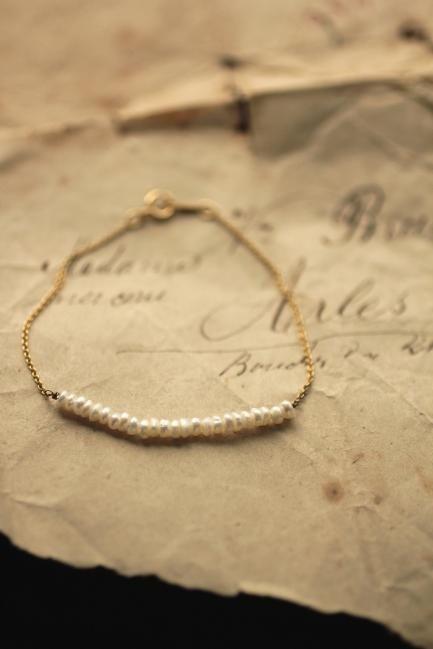 Keshi Pearl K10 Gold Bracelet | IRRE