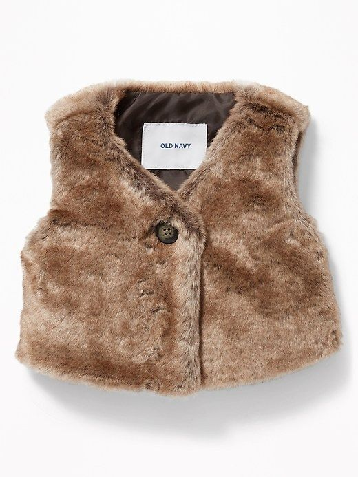 c3513f587 Faux-Fur Vest for Baby Adorable over a simple swing dress ...