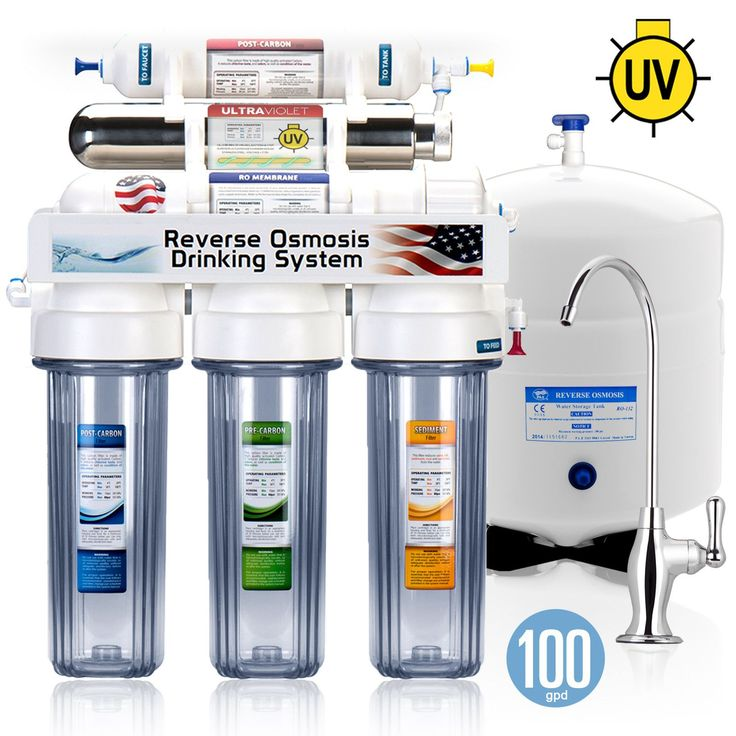rouv10dc 6 stage uv ultraviolet sterilizer reverse osmosis home drinking water filtration system