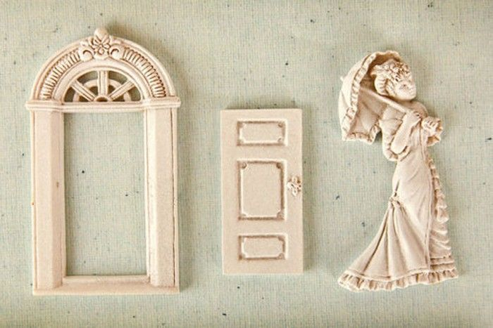 door window victorian girl with umbrella mold, Cake Decorating Fondant Baking Mold Tool