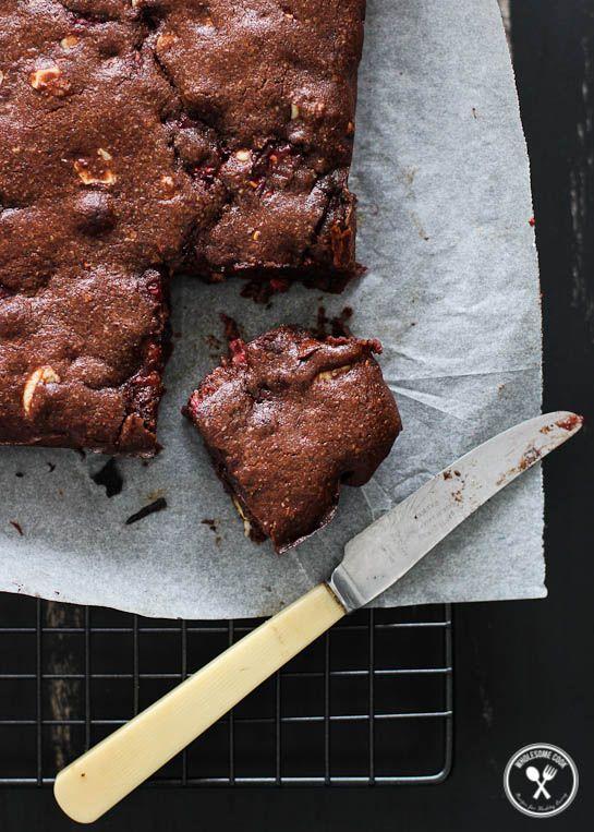 Flourless Coffee Chocolate Raspberry Brownie (3)