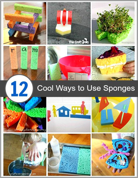 Who knew there were so many cool things you could do with a kitchen sponge? Here's 12 cool sponge crafts and activities for kids!