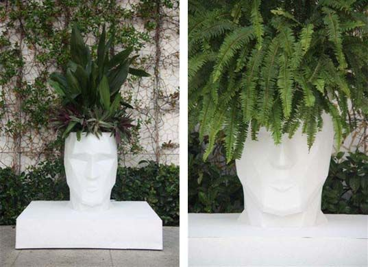 Teresa Sapey recyclable head planters... indoor/outdoor, can be illuminated. Vondom design