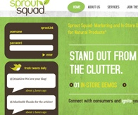SPROUT SQUAD design, html, core php