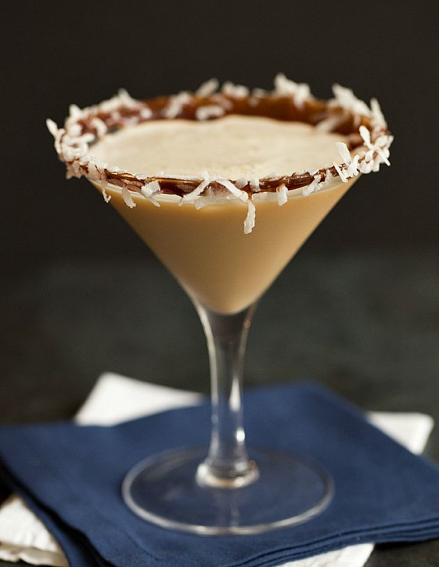 Almond Joy Martini - The Almond Joy candy bar was first introduced in 1946 by the Peter Paul Candy Manufacturing Company of New Haven, Connecticut.
