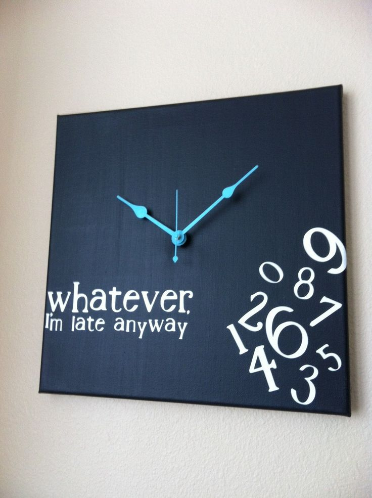Whatever, I'm late anyway clock. $38.00, via Etsy.