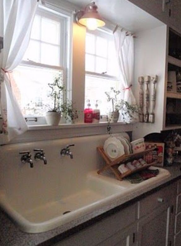 Farmhouse Sink.  I've always loved and wanted one of these.