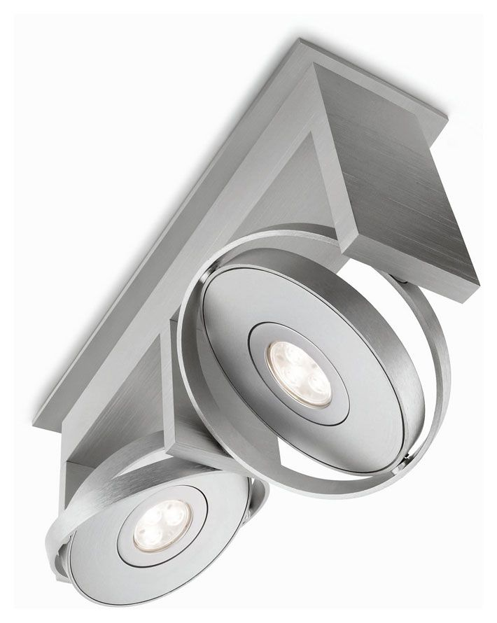 Philips ledino 531524848 orbit 2 lamp contemporary led ceiling spot light fixture phi 531524848