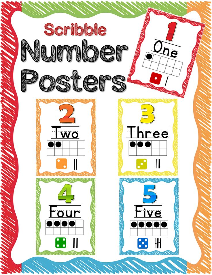 Classroom Decor Numbers ~ Number posters numeral numbers words and