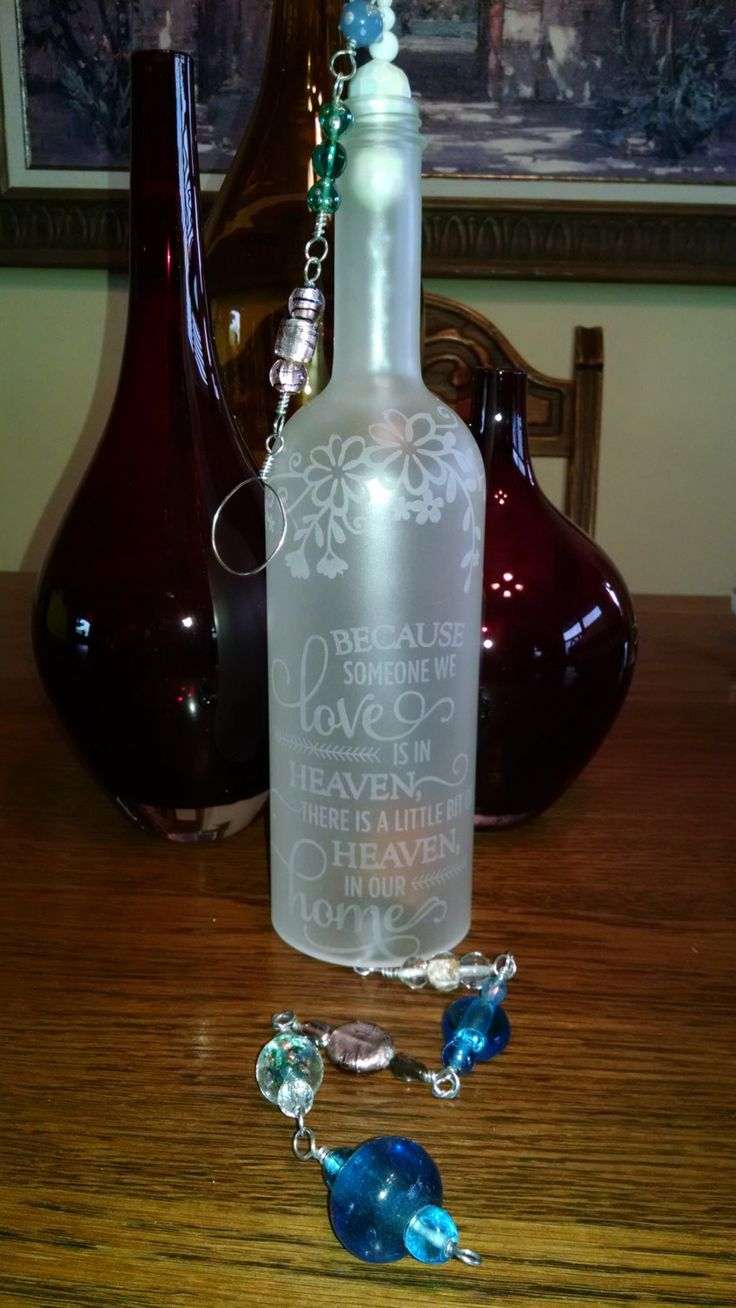 Unique loss of a loved one sympathy gift idea for family for Glass bottle gift ideas