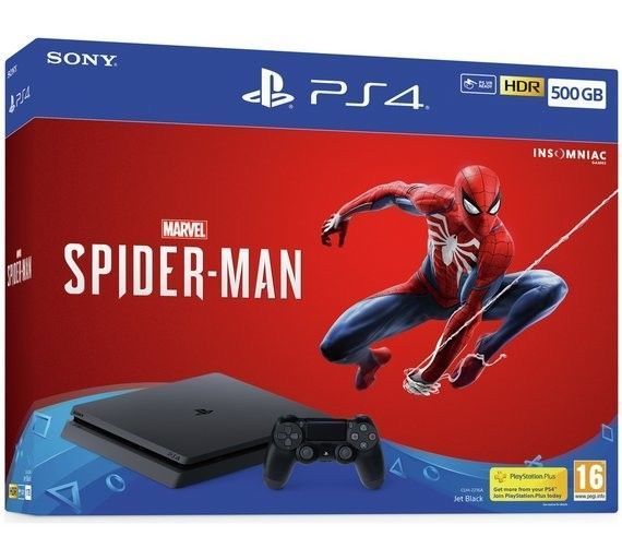 Sony Playstation 4 Slim 1tb Spiderman Bundle Black Ps4 Gaming Video Marvel Spiderman Spiderman Ps4 Ps4 Slim Console