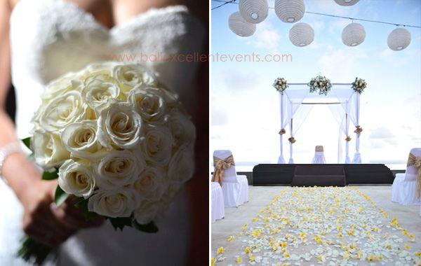 Simple White Rose BridalBouquet
