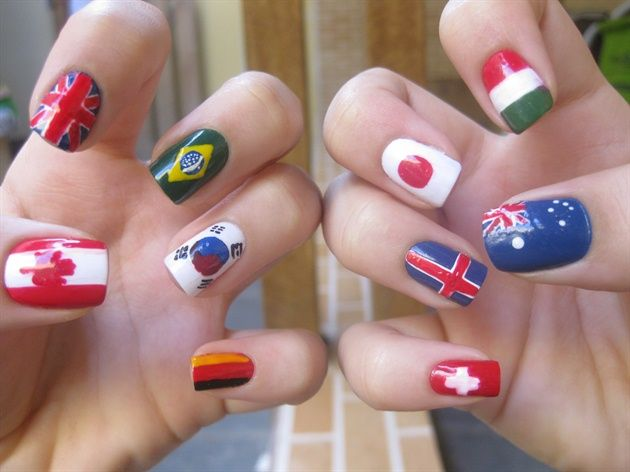 Celebrate the 2012 Olympics with this amazing nail art!
