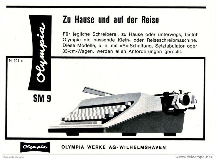 Original-Werbung/ Anzeige 1962 - OLYMPIA SCHREIBMASCHINE / WILHEMSHAVEN - ca. 140 x 100 mm