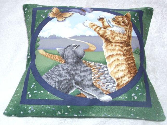 Pretty Kitties and Butterflies Cushion £18.95