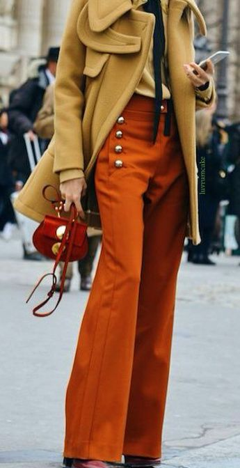Chloe handbag & military style trousers