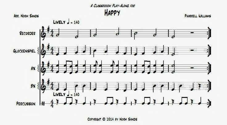 """Play-along for """"Happy"""""""