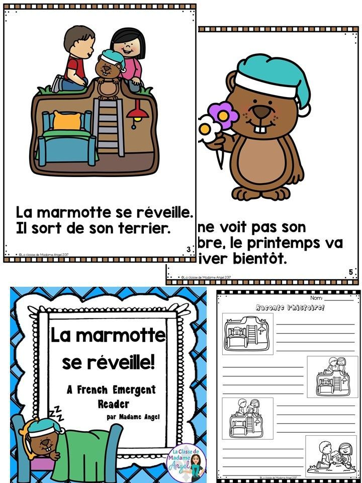 Le jour de la marmotte!  Introduce beginning French students to this fun tradition with this great emergent reader.  Also includes a retell the story component!