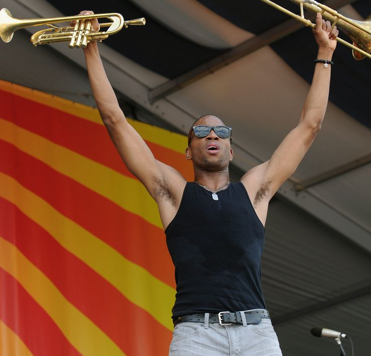 Trombone Shorty & Orleans Avenue performs during the 2012 New Orleans Jazz & Heritage Festival Day 3 at the Fair Grounds Race Course on April 29, 2012 in New Orleans, Louisiana.