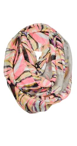 "This beautiful scarf has a stunning print that resembles a watercolour painting. .  Infinity scarf Lightweight fabric One size 39"" wide Infinity loop is 70"" around 100% Viscose $19.95  ONLY 2 LEFT"