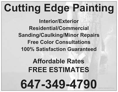 Cutting Edge Painting Flyer