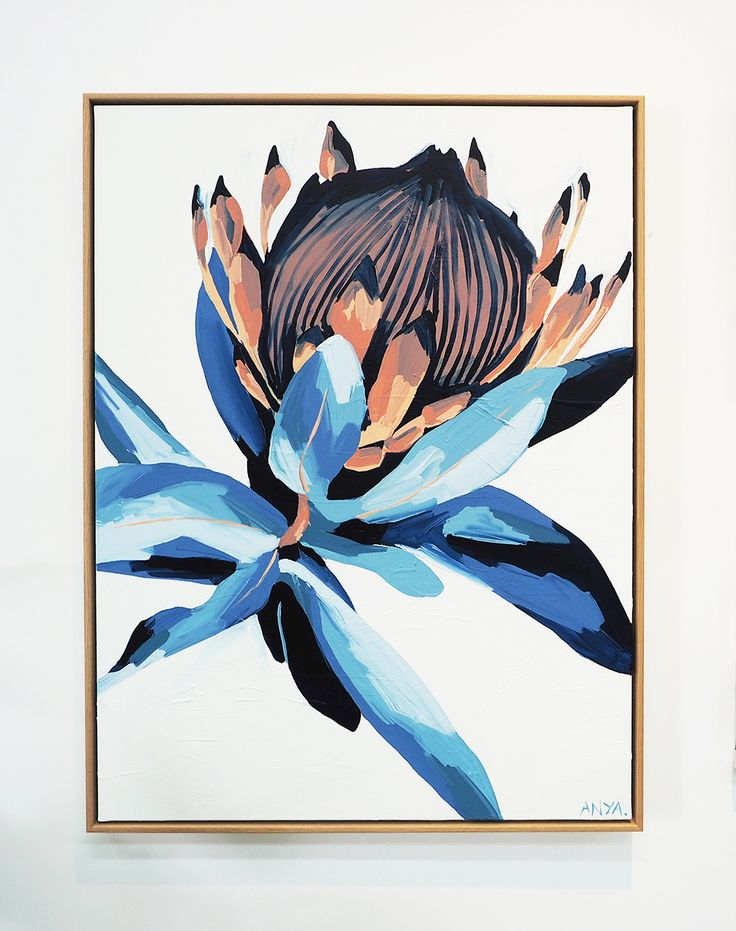 'Accepting This Reality' is a beautiful floral Paper or Canvas Print by Anya Brock.