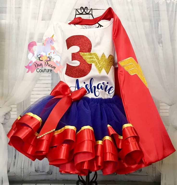 A personal favorite from my Etsy shop https://www.etsy.com/listing/522336790/wonder-woman-supergirl-super-hero-tutu