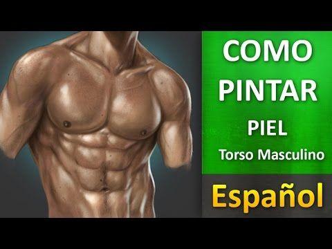 Como pintar piel en Torso Masculino Photoshop Español - http://graphixdragon.com/como-pintar-piel-en-torso-masculino-photoshop-espanol/