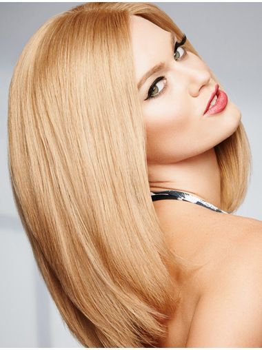 """14"""" 100% Hand-tied Straight Shoulder Length Real Human Hair Wigs (SKU: XW01012) - Human Hair Wigs - Wigsis  #100humanhairwigs #remywigs #cheaphumanhai..."""