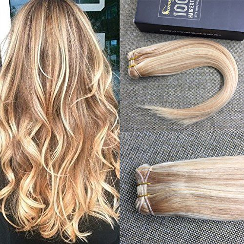 Best 25 straight weave hairstyles ideas on pinterest sew in bob sunny honey blonde with bleach blonde highlight piano color human hair extensions weft one bundle for straight weave hairstyle pmusecretfo Choice Image