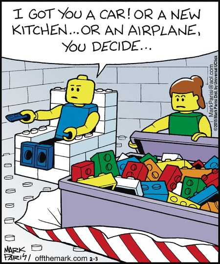 "Legos - you decide...    - ""Off the Mark"" by Mark Parisi;  2/3/15"