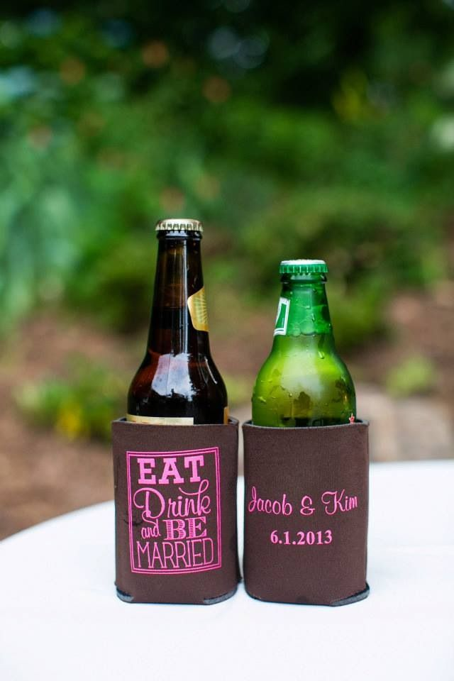 koozie wedding favors this would be his idea of a favor loves his